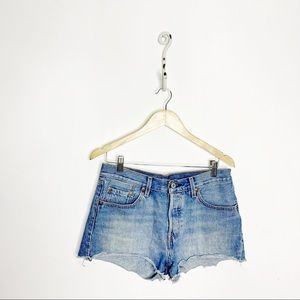 Levi's 501 Original Shorts Denim Cutoffs Cotton 28